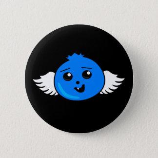 Myrtille heureuse volante badge rond 5 cm