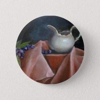 Myrtilles et bouton crème DST Badge Rond 5 Cm