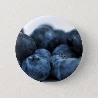 Myrtilles mûres fraîches badge rond 5 cm