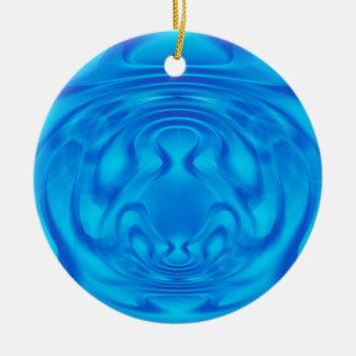 Mystère bleu ornement rond en céramique