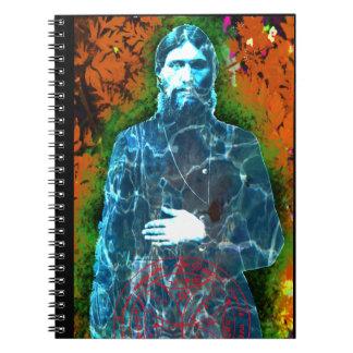Mystique folle de moine d'histoire russe de carnet