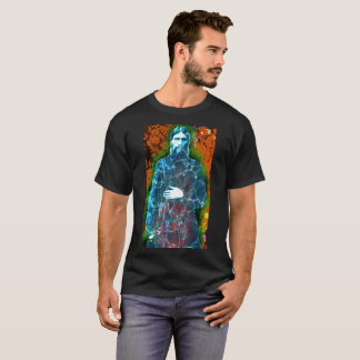 Mystique folle de moine d'histoire russe de t-shirt