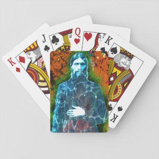 Mystique folle russe de moine de Grigori Rasputin Cartes À Jouer