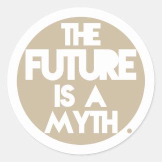 Mythe (Brown) Sticker Rond
