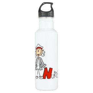 N est pour l'infirmière bouteille d'eau en acier inoxydable