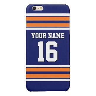 Naam van het Aantal van de Douane van Jersey van iPhone 6 Plus Hoesje Glanzend