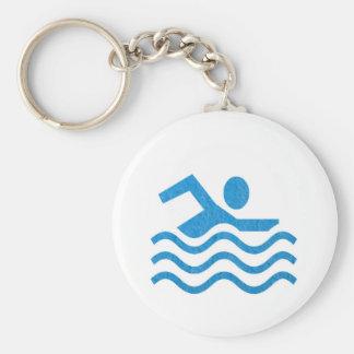Nageur 101 de bain de succès de natation du porte-clés