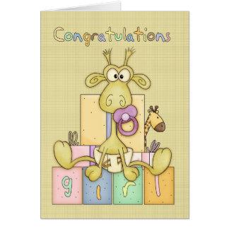 Naissance de félicitations de carte de bébé - Bab