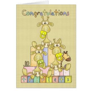 carte de félicitations pour naissance