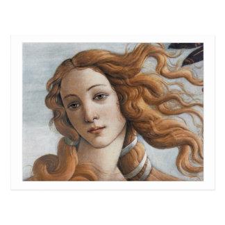 Naissance de fin de Vénus vers le haut de tête Carte Postale