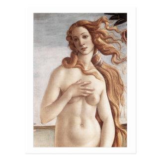 Naissance de Vénus en détail Carte Postale