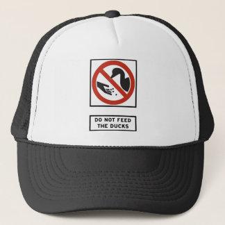 N'alimentez pas aux canards le signe de route casquette