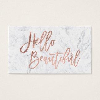 Nam mooie faux van Hello gouden elegant Visitekaartjes