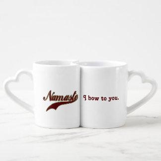 Namaste Bourgogne rouge élégant que je cintre à Mug