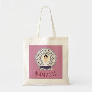 Namaste dans la pose de Lotus - sac fourre-tout à