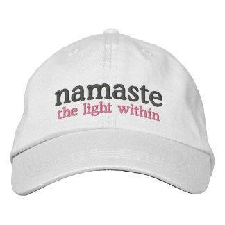Namaste la lumière en dedans casquette brodée
