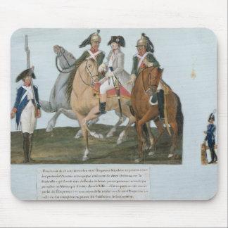 Napoleon Bonaparte et la sentinelle de Varsovian Tapis De Souris