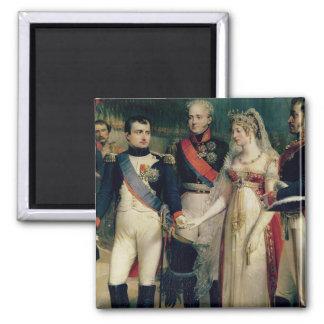 Napoleon Bonaparte recevant la Reine Louisa Magnet Carré