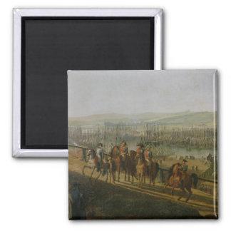 Napoleon Bonaparte visitant le camp à Magnet Carré