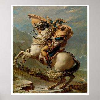 Napoléon croisant l'affiche 1800 d'impression