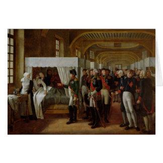 Napoléon visitant l'infirmerie d'Invalides Carte De Vœux