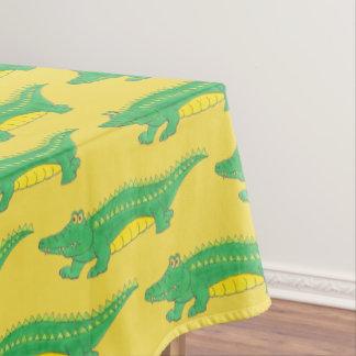 Nappe Animal jaune vert de crocodile de Croc d'alligator