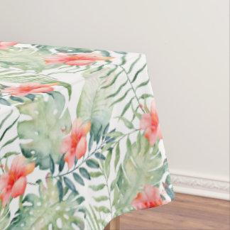 Nappe Aquarelle florale de ketmie tropicale de feuille