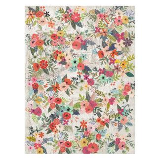 Nappe de peinture d'aquarelle de mélange de fleurs