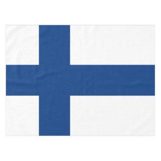 Nappe Drapeau de drapeau croisé bleu de la Finlande