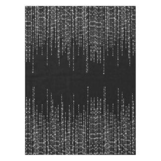 Nappe Étincelle argentée noire de brins formelle