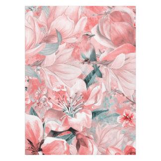 Nappe flowers2bflowers et #flowers de motif d'oiseaux