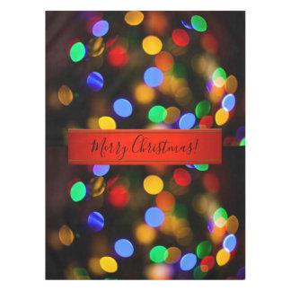 Nappe Lumières de Noël multicolores. Ajoutez le texte ou