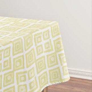 Nappe Motif abstrait jaune de carrés