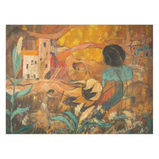 Nappe Peinture d'habitants de falaise