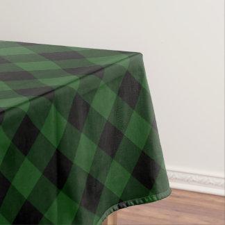 Nappe Plaid rustique de Buffalo vert et noir