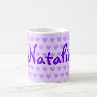 Natalie dans le pourpre mug blanc