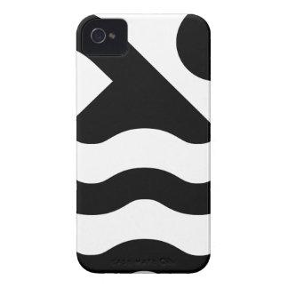 Natation dans le logo de piscine étuis iPhone 4