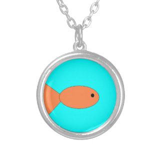 natation de poisson rouge dans l'océan, art par pendentif