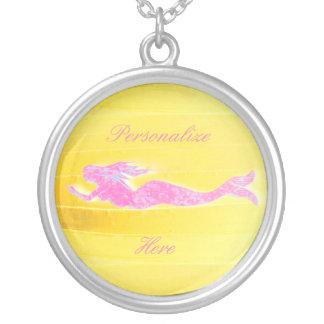 natation rose sous-marine de sirène pendentifs