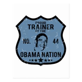 Nation d'Obama d'entraîneur Carte Postale