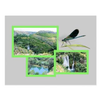 national parc Krka, la Croatie, la carte de lettre