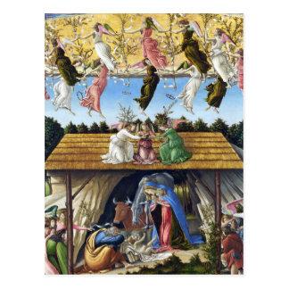 Nativité mystique par Sandro Botticelli Carte Postale