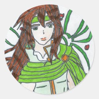 Natsu le guerrier du printemps sticker rond