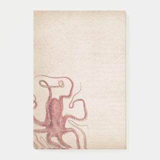 Nature amortie de poulpe de Steampunk de rose rose Post-it®