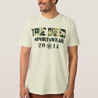 Naturel véritable le T-shirt de militaires de race