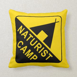Naturiste/nudiste Coussin
