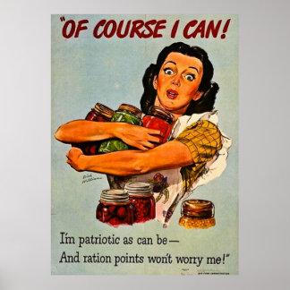 Natuurlijk kan ik! De vintage Propaganda van WO.II Poster