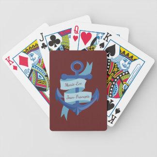 Nautique personnalisez le mariage de destination jeu de cartes