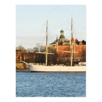 Naviguant à Stockholm, la Suède Carte Postale