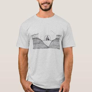 """""""Naviguant """" dans le T-shirt (noir et blanc)"""